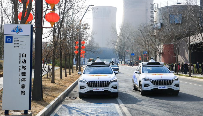 Baidu leading search engine in China has launched a fully driverless robotaxi service in Shougang Park