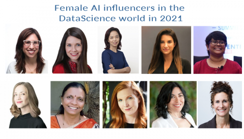 Female AI influencers in the Data Science world in 2021