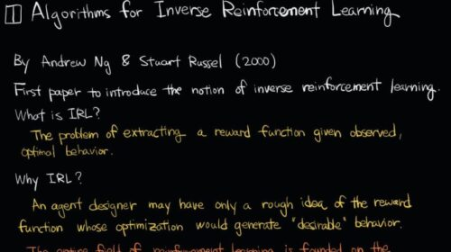 inverse Reinforcement Learning (IRL) papers
