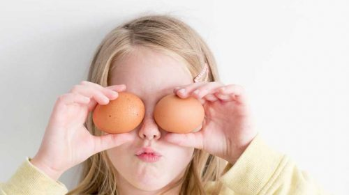 Girl with two eggs