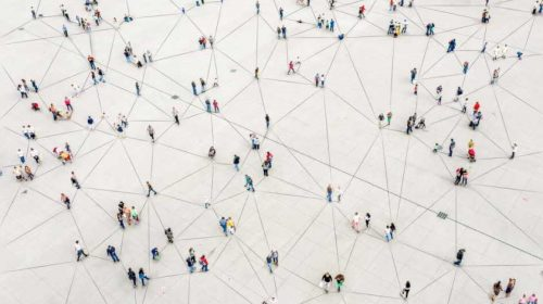 People in a grid
